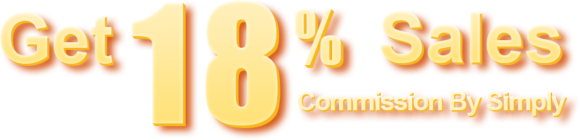 get 18% sales commission by simply