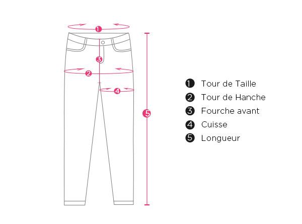 Pantalon Cigare Droit Casual Avec Poches à Taille élastique Pour Femme